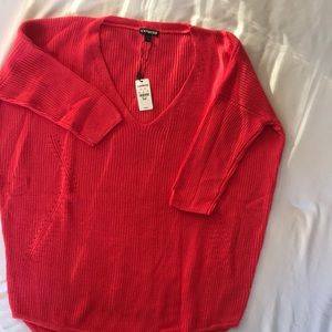 NWT Express Sweater size M Coral